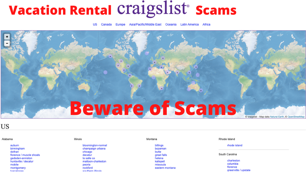 How to Prevent Vacation Rental Scams on Craigslist?